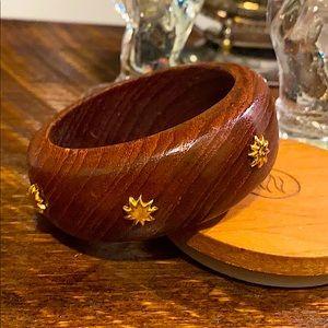 Vintage Hand-carved Wooden Bangle